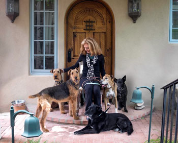 Lisa Hendrix with her dogs